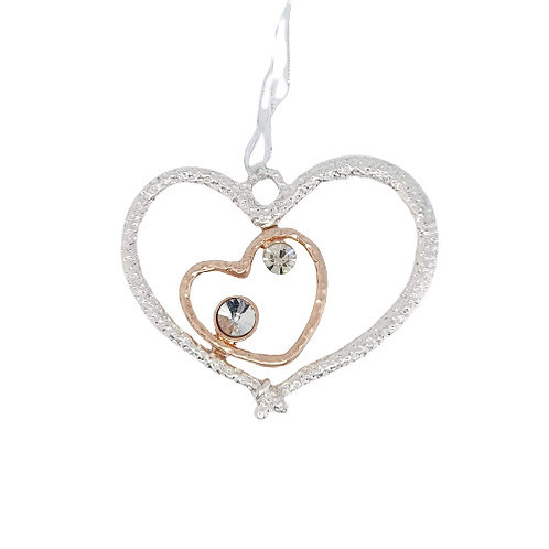 Bridal Charm -Double Heart