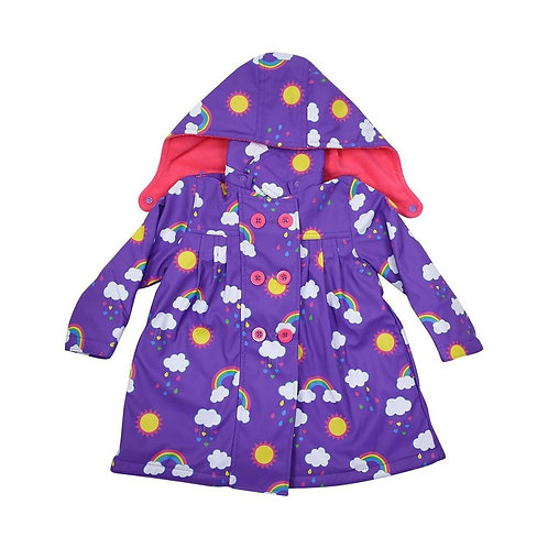 Korango Girls Rainbow Print Raincoat