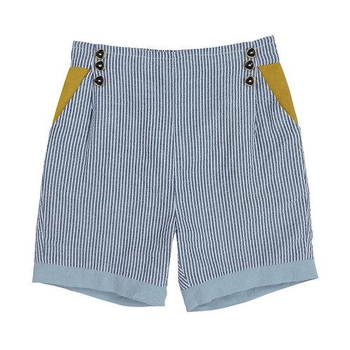 Denim Check Shorts