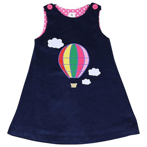 Korango Girls Balloon Cord Pinafore Dress