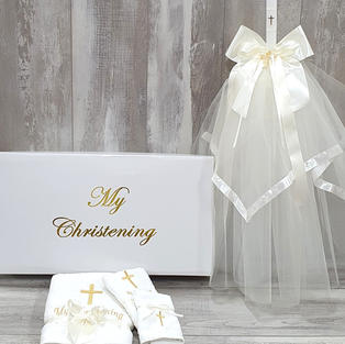 Personalised rectangular box and candle Deluxe package.