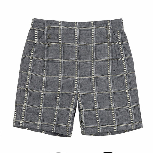 Dark Check Shorts