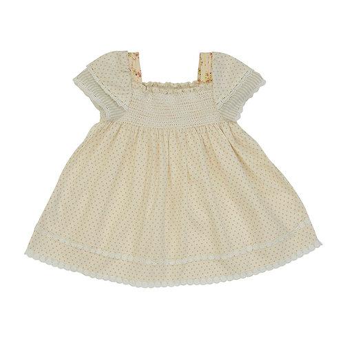 Smocked Twin Sleeve Dress