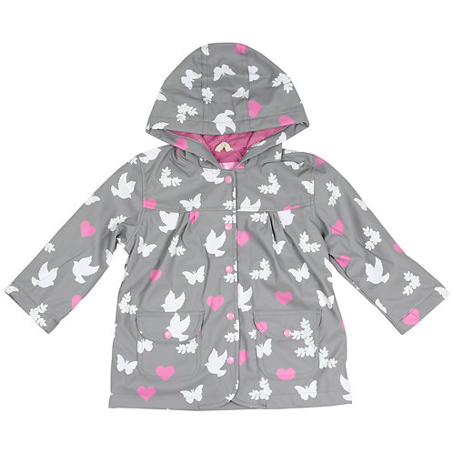 Korango Girls Birds n Butterflies Colour Changing Raincoat