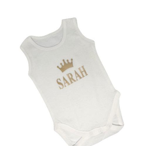 Personalised Bodysuit Crown & Name