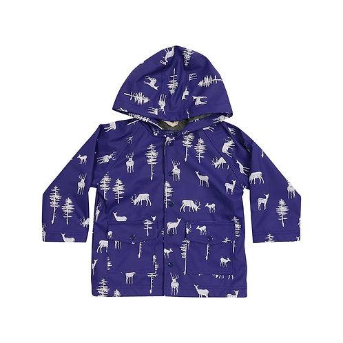 Korango Boys Little Stag Print Raincoat