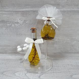 Infused olive oil bottles