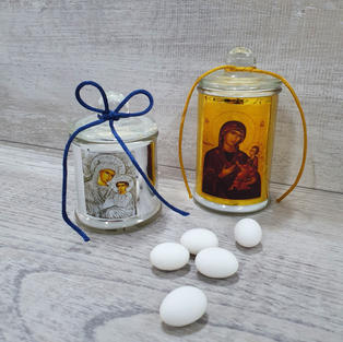 Scented icon candles. Available in two sizes.