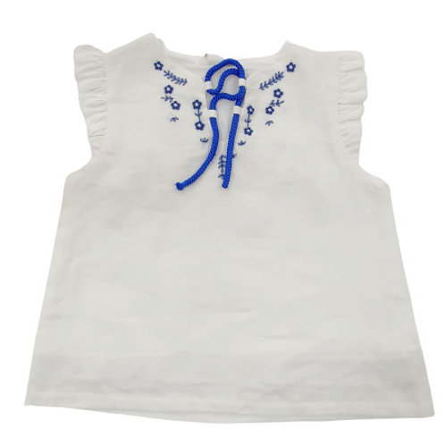 Hand Embroidered Peasant Top