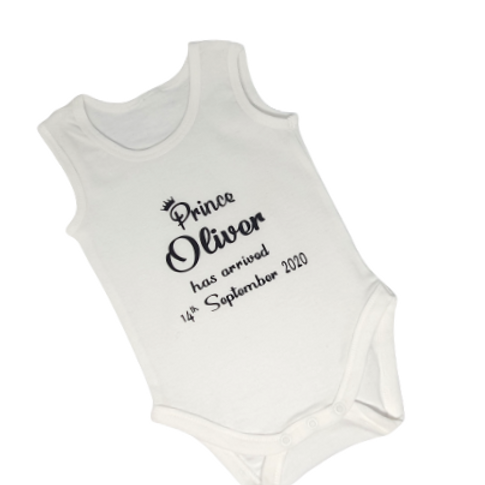 Personalised BodysuitName & Arrival