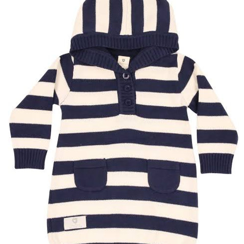 Korango Hooded Striped Knit Dress