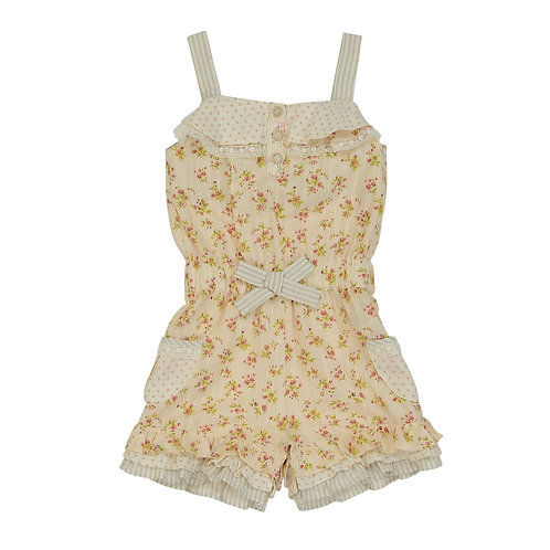 Floral Short Playsuit