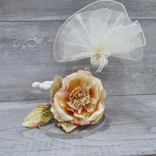 Elegant doubled layered organza and net bonbonniere.