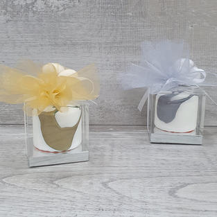Handmade pillar drip candles. Also available in other colour variations.