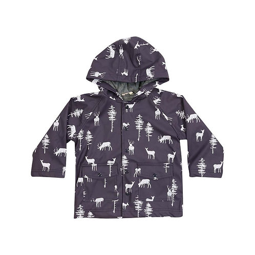 Korango Boys Little Stag Print Raincoat