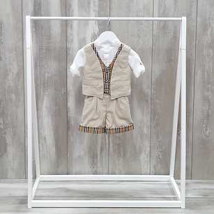 Boys christening shorts outfit
