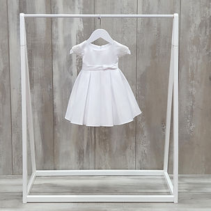 Simple satin christening dress