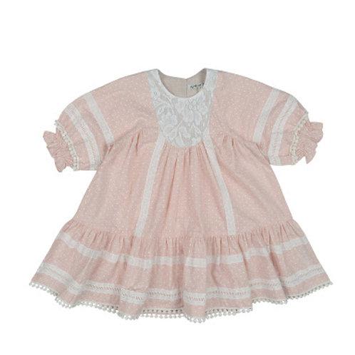 Dotty Peasant Dress