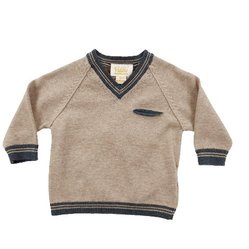 Jumper with Contrast Trim
