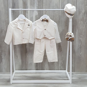 Boys silk christening suit