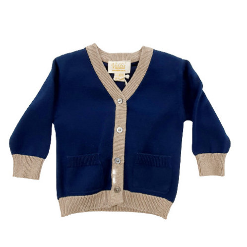 Cardigan with Tan Trim