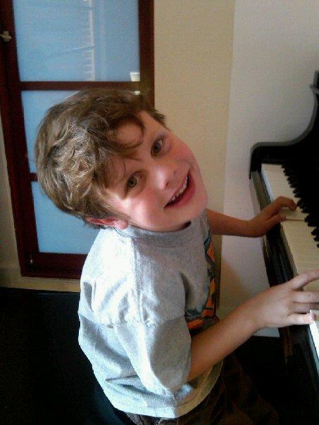 Charmer Aidan piano student
