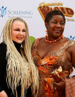 With Loretta Devine