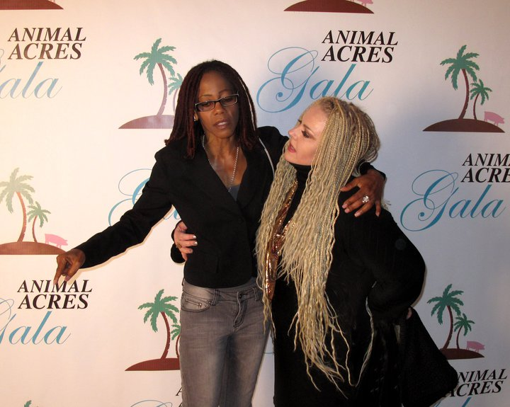 Animal Acres gala with Debra Wilson