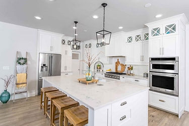 Kitchen Remodel White Modern Minimalist Spacious Stainless Marble