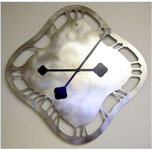 sample of custom metal clock