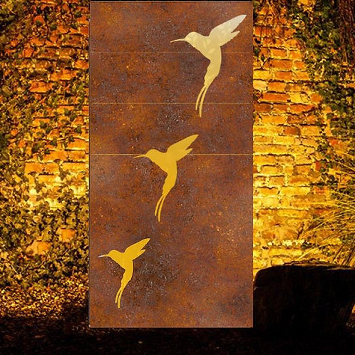 Birds3 Metal Panel