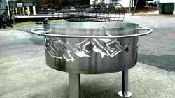 custom metal art fire pit