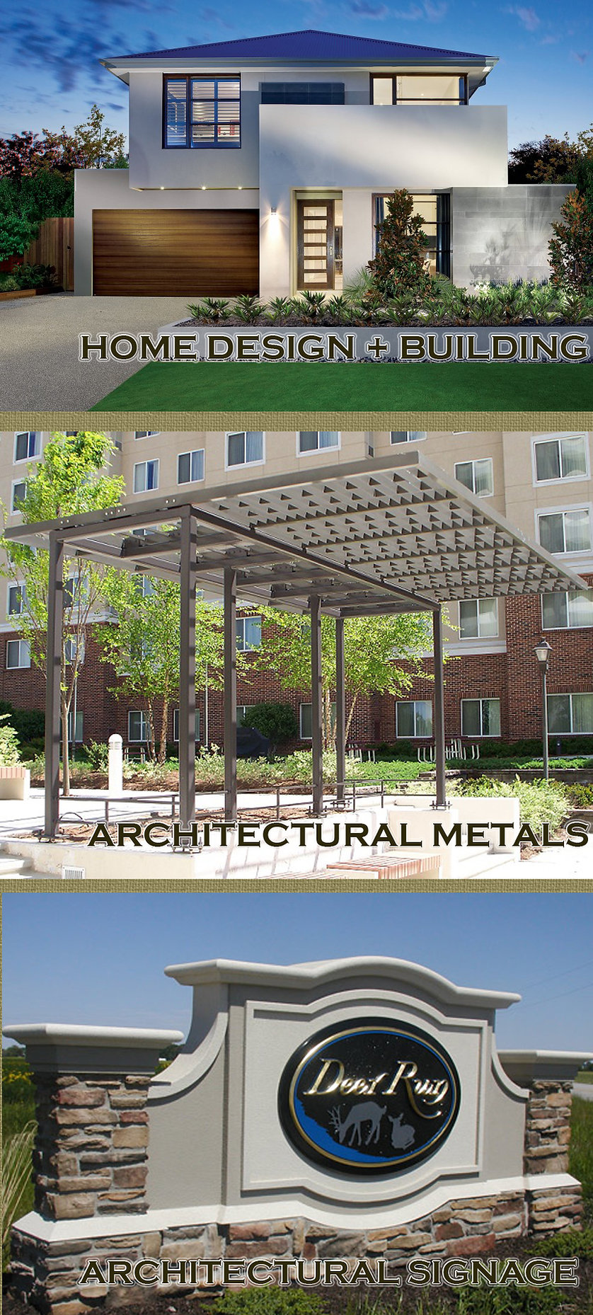 Architectural metals, architectural signage, home desig-build architechconcepts.com