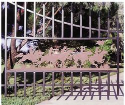 custom metal art gate