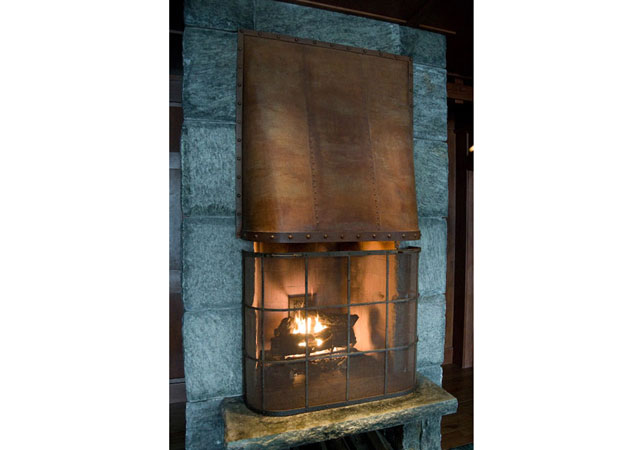 custom metal fireplace cover