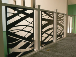 custom metal art railing