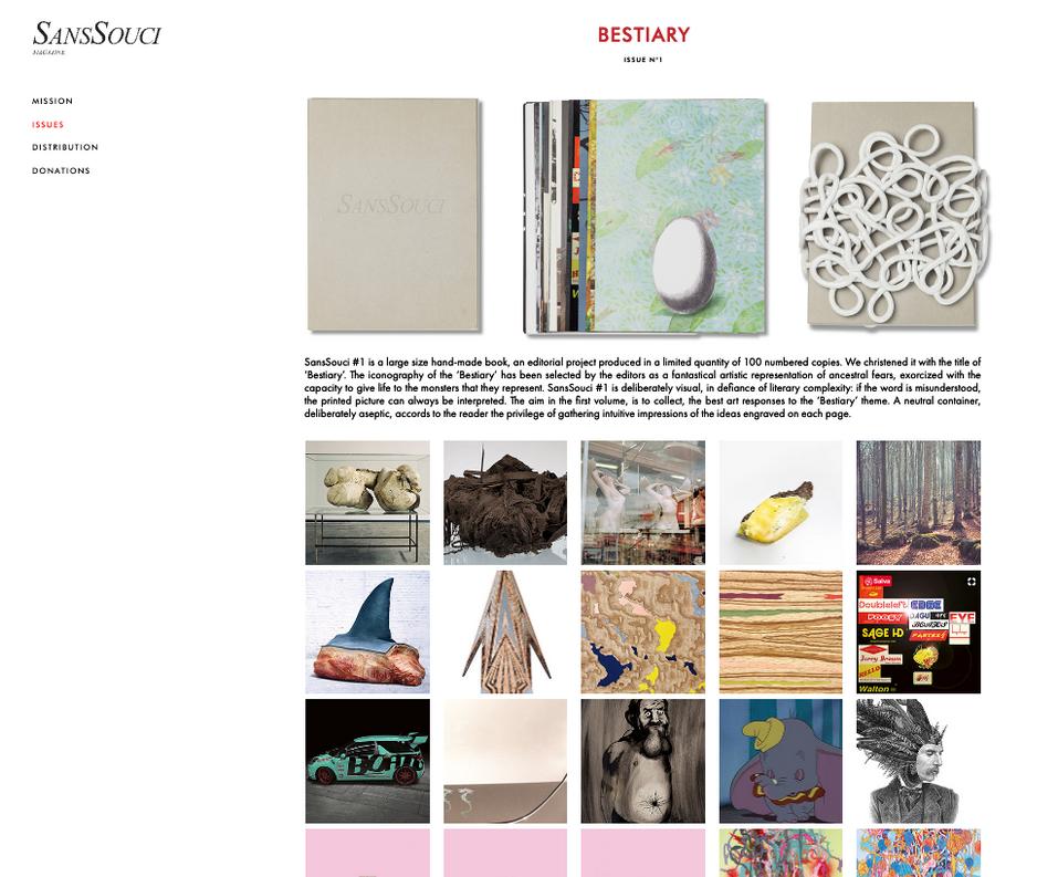 SansSouci Magazine Website