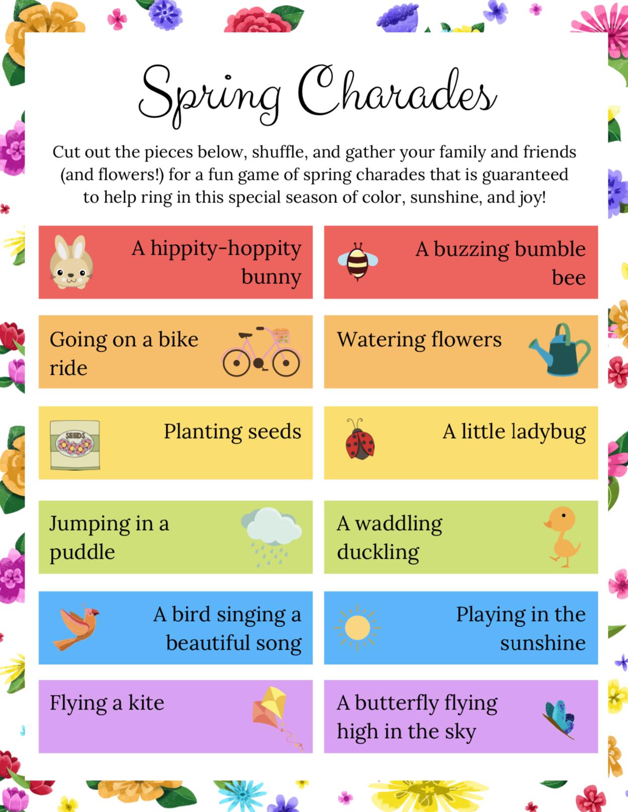 Poppy & Posie's Spring Charades - The Blossom Shoppe