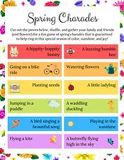 Spring Charades _ Kids Printable Activit