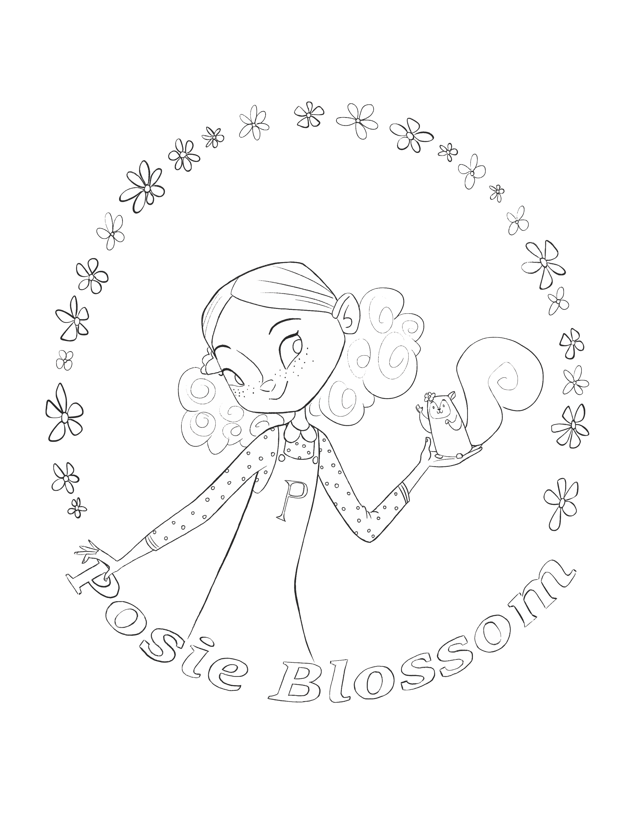 Posie Blossom Coloring Sheet