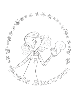 posie coloring page