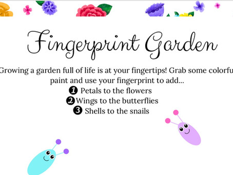 Make a Fingerprint Garden! | Free Downloadable Printable for Kids