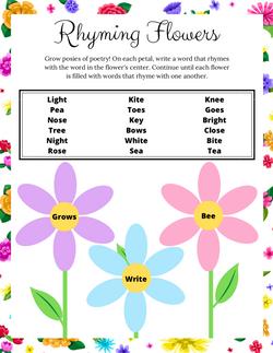 Poppy & Posie's Rhyming Flowers Activity - The Blossom Shoppe