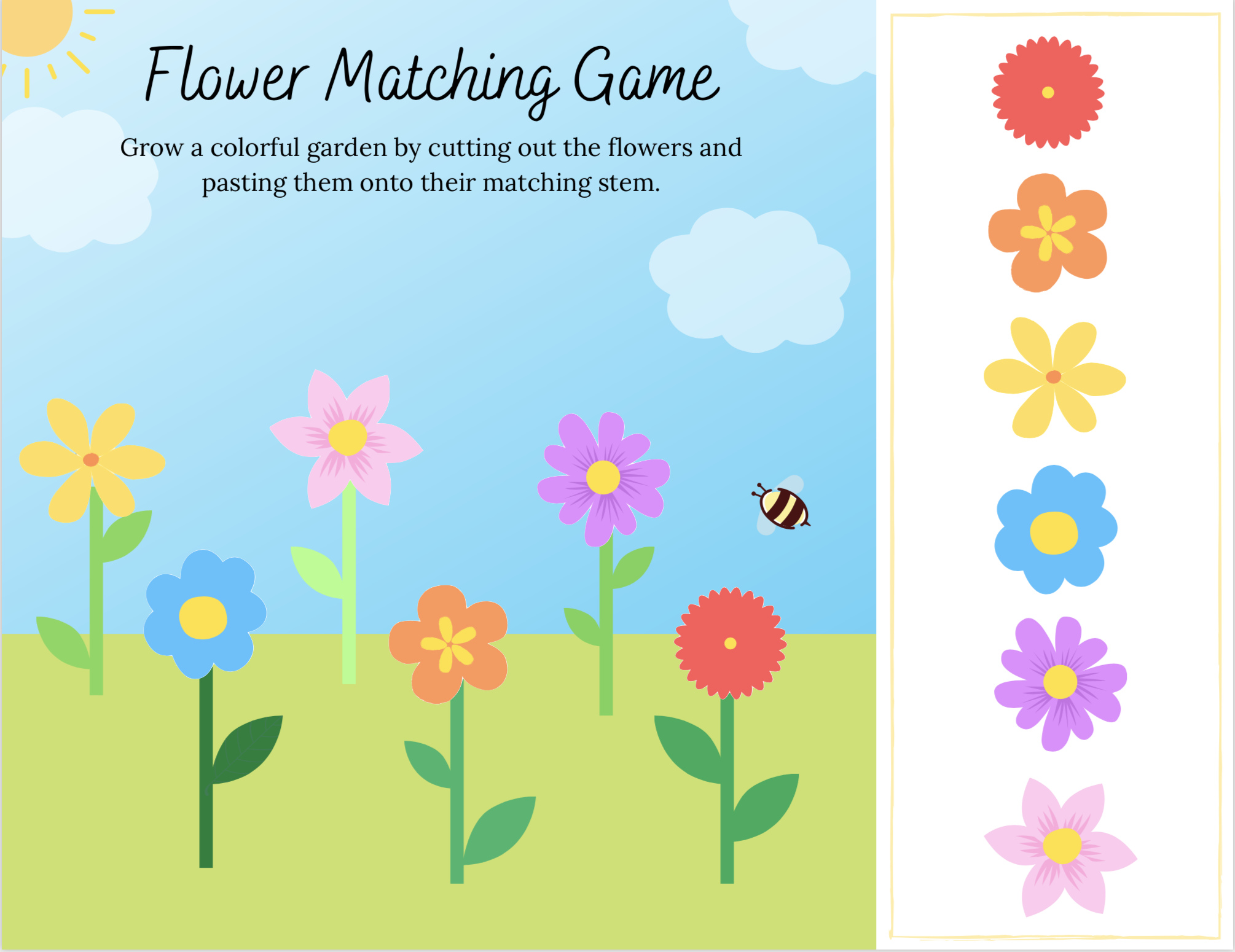 Poppy & Posie's Flower Matching Game - The Blossom Shoppe