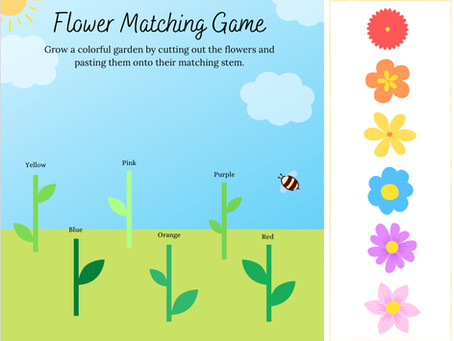 Flower Matching Game | Free Printable Online Activity for Kids