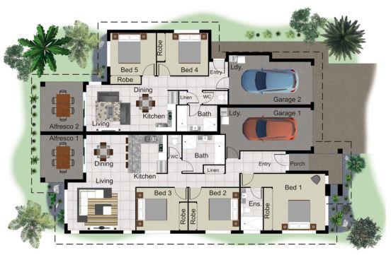Dual Living Floor Plan Example