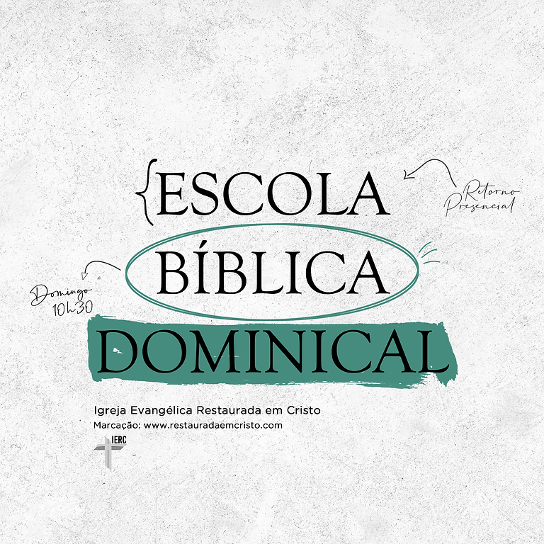 Escola Bíblica Dominical (13 Junho 2021)