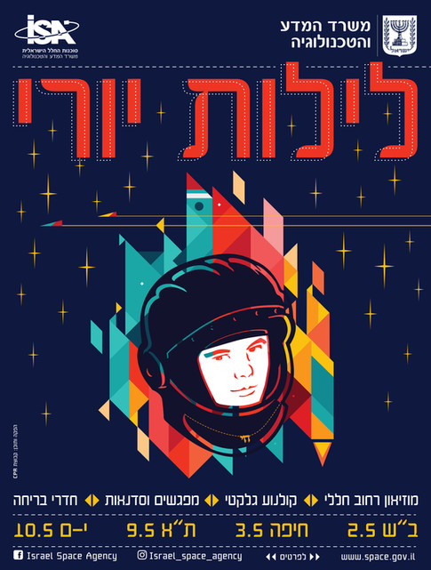 Poster design for Yuro Gagarin's nights events in Is