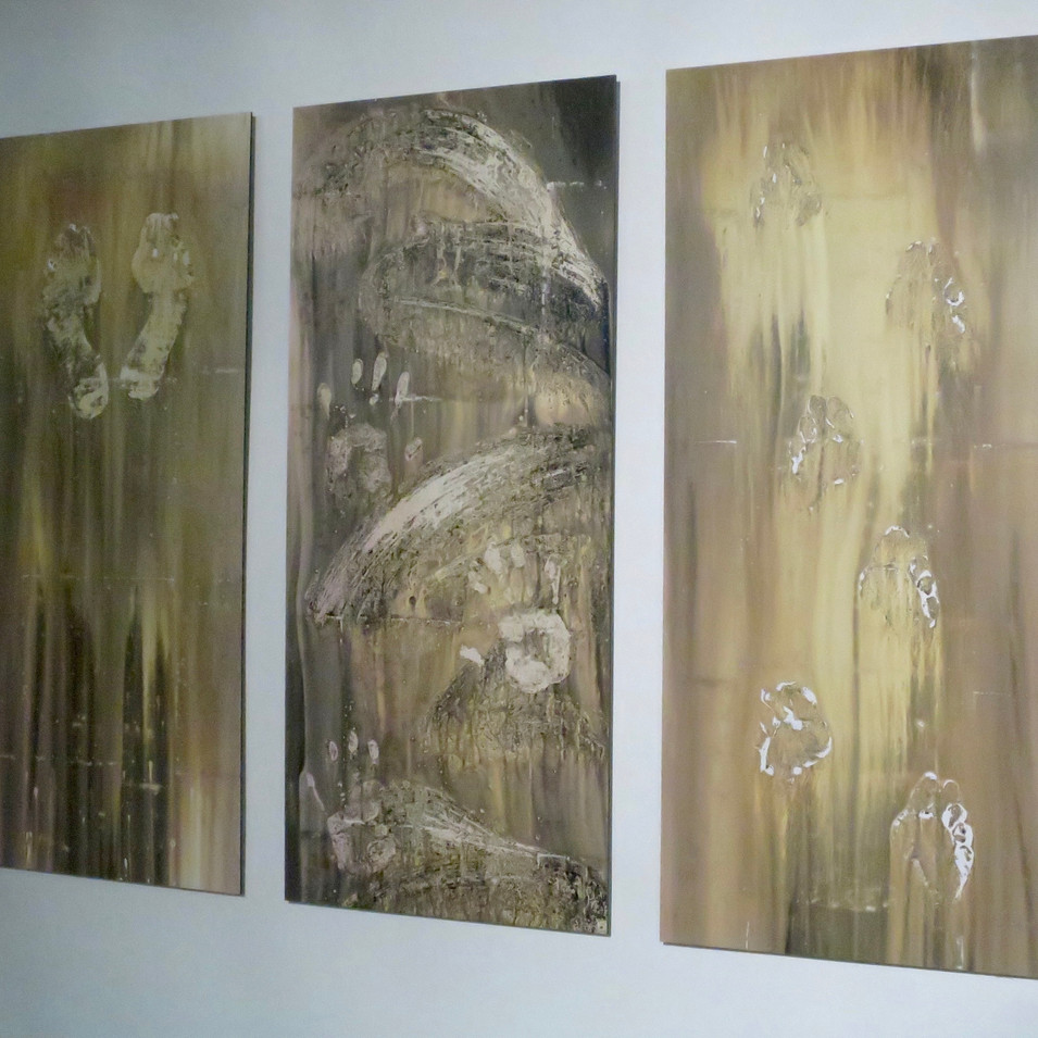 'Stories from the floor', tryptych no.2