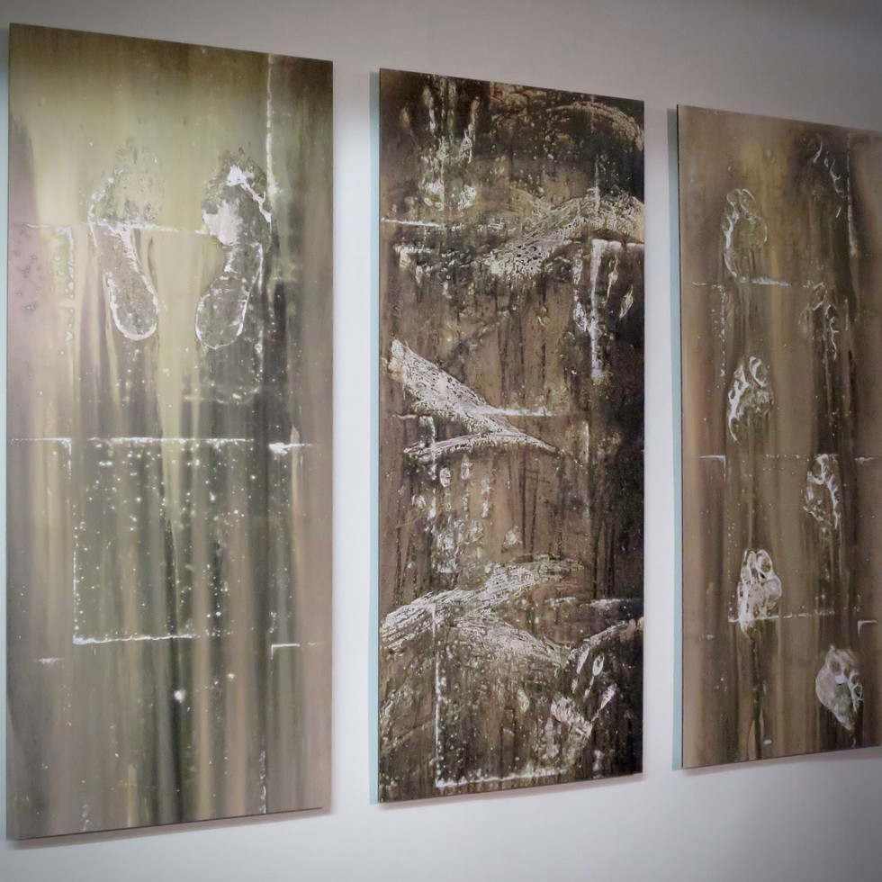 'Stories from the floor', tryptych no.1